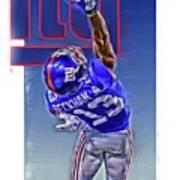 Odell Beckham Jr New York Giants Oil Art 2 Art Print