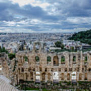 Odeon Of Herodes Atticus - Athens Greece Art Print