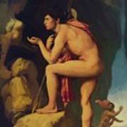 Oedipus And The Sphinx 1808 Art Print