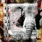 Of Elephants And Men Art Print