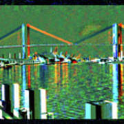 Of Time And The Savannah River Bridge Art Print