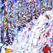 Off Piste In The Woods Above Morzine Art Print