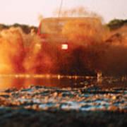Off Road Mud Splash-3 Art Print
