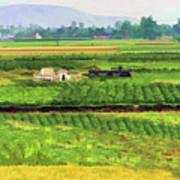Off The Beaten Track Vietnam Viewed Through Train Window Filters  Art Print