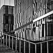 Office Buildings Reflections Art Print