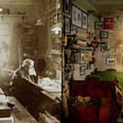 Office - Ole Tobias Olsen 1900 - Side By Side Art Print