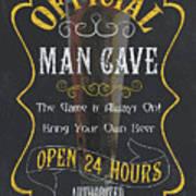 Official Man Cave Art Print
