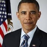 Official Portrait Of President Barack Art Print by Everett