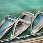Ogunquit Maine Skiffs Art Print