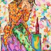Oh Bottle Of Wine Art Print