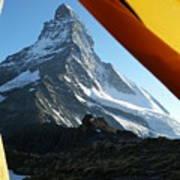 Matterhorn Camping Art Print