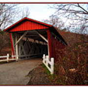 Ohio Covered Bridge Art Print