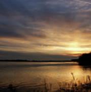 Ohio River Sunset Art Print