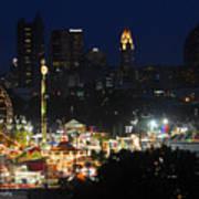 D3l-464 Ohio State Fair With Columbus Skyline Art Print
