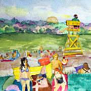 Ohio Swimmers Art Print