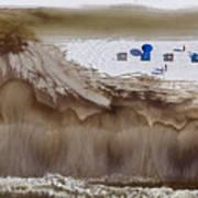 Oil-covered White Sands Of Orange Beach Art Print