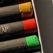 Oil Crayons Art Print