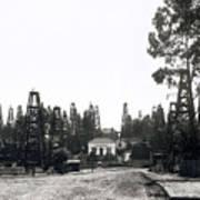 Oil Field Residential Los Angeles C. 1901 Art Print
