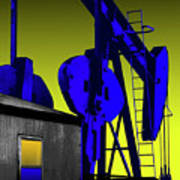 Oil Industry Well Pump Art Print