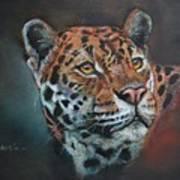Oil Painting Jaguar Art Print