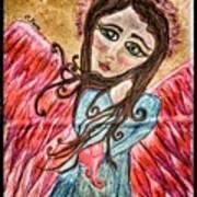 Oil Pastel Angel Art Print