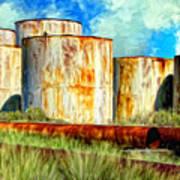 Oil Tanks Art Print