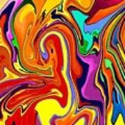 Oily Abstract Art Print
