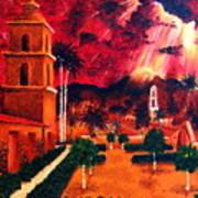 Ojai Red I Art Print