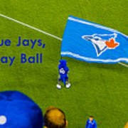 O.k. Blue Jays Let's Play Ball Art Print
