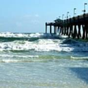 Okaloosa Pier Breaking Art Print