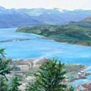 Okanagan Blue Art Print