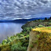 Okanagan Lake On A Thursday Art Print