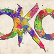 Okc Typography Watercolor Art Print