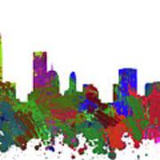 Oklahoma City Skyline Painted Art Print