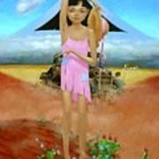 Oklahoma Girl With Mt.fuji Art Print