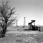 Oklahoma Oil Field Art Print by Larry Keahey
