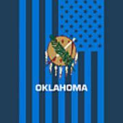 Oklahoma State Flag Graphic Usa Styling Art Print