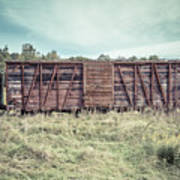 Old Abandoned Box Cars Central Vermont Art Print