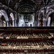 Old Abandoned Church Organ In Decay Art Print