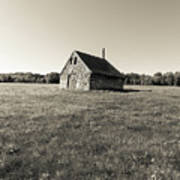 Old Abandoned Farm Building Art Print