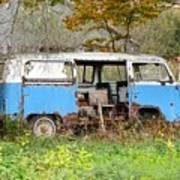 Old Abandoned Hippie Van Art Print