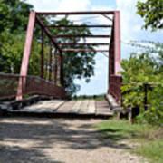 Old Alton Bridge In Denton County Art Print
