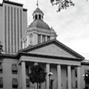 Old And New Florida State Capitol Buildings Art Print