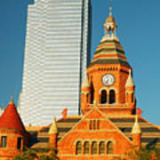Old And New In Dallas Art Print