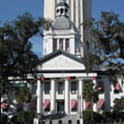 Old And New State Capitol Art Print