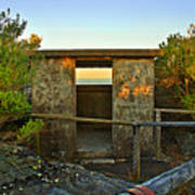 Old Army Lookout In Sunset Hour Art Print
