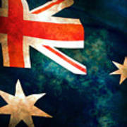 Old Australian Flag Art Print