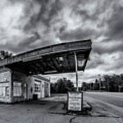 Old Auto Garage In Ellershouse Art Print