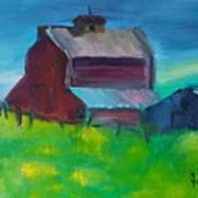 Old Barn And Shed  Art Print by Steve Jorde