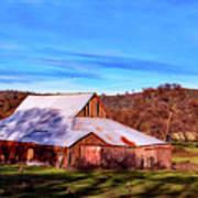 Old Barn In California Art Print